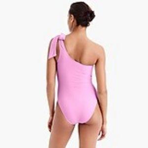 J. Crew Swim - NWT J. Crew Bow Tie One Shoulder Pink Swimsuit 4